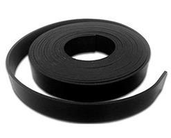 Gummistrips 30x4 mm sort u.lim SBR/NR - Løpemeter