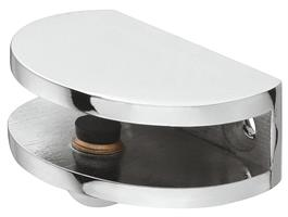 Hylleholder 49x36x16 mm halvmåne krom - 2 stk
