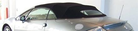 Sufflett Mitsubishi Eclipse 06-12 tyg svart