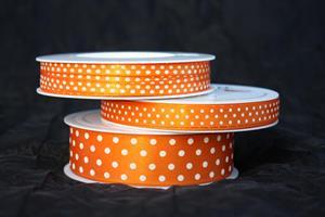 Band orange/vita prickar olika bredder