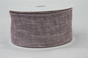 Band 50 mm 8 m/r dusky lilac linne med tråd