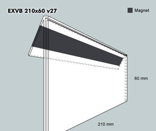 Etiketth. EXVB 210-60F 27V mag