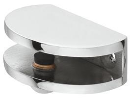 Hylleholder 40x30x14,5 mm halvmåne krom - 2 stk