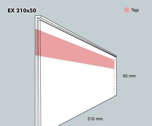 Etiketthållare EX 210-50F