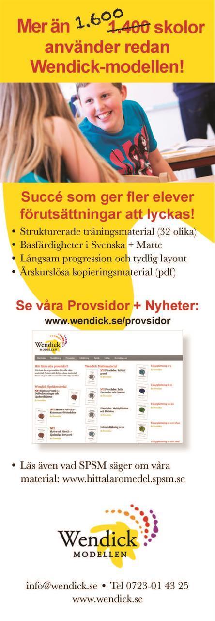 Annons Specialpedagogik 1-21