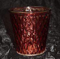 Glaskruka Stina vinröd D12cm 12/fp