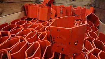 Stolpskydd EAB 140mm röd beg