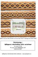 Mönsterblad som fil Brickvävning enkla variationer