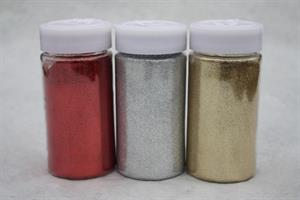 Glitter löst i burk ca 250 gram olika färger