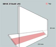 Etiketthållare EBVA 210-60F vinklad 45°