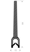 Kantprofil ST 36.890 sort (1,5-4 mm) - Løpemeter