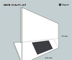 Etiketthållare EBVB 210-75F vinklad 27°
