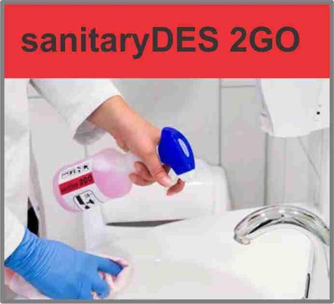 sanitaryDES 2GO 1l Desinfiserende Sanitærrens refillflaske