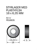 Kullager med plasthylsa 16x6,35