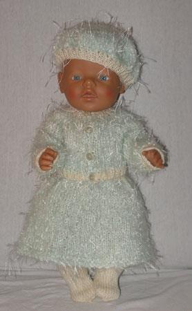 Strikket sett til BabyBorn i lys blå
