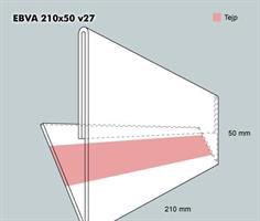 Etiketthållare EBVA 210-50F vinklad 27°