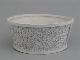 Planteringskorg vit/silver 25 cm