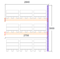 Följdsektion h:3000 b:2750 mm 2 nivåer