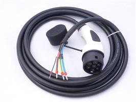 7,4 kW åpen ende 5m til T2 bil Duosida kabel