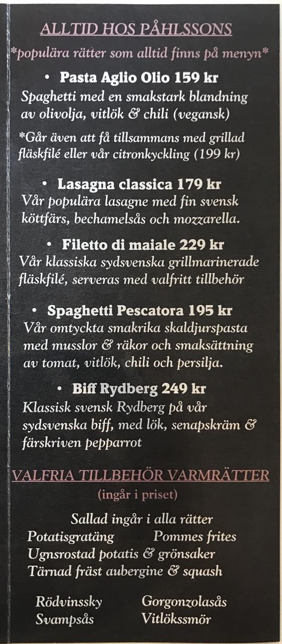 Alltid hos Påhlssons