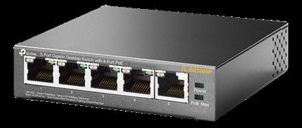Switch 5-Port Gigabit PoE TP-Link