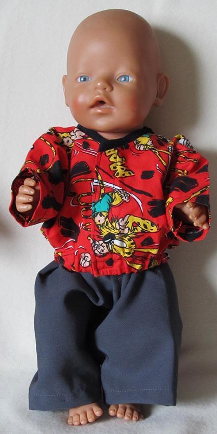Sydd sett til BabyBorn i rød/grå
