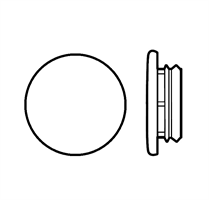 Karmplugg 12 mm Hvit - 16 stk