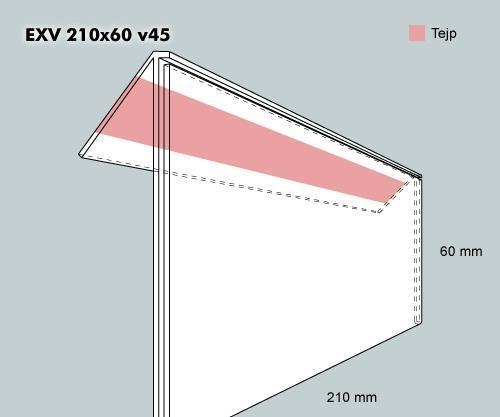 Etiketth. EXV 210-60F 45V tej