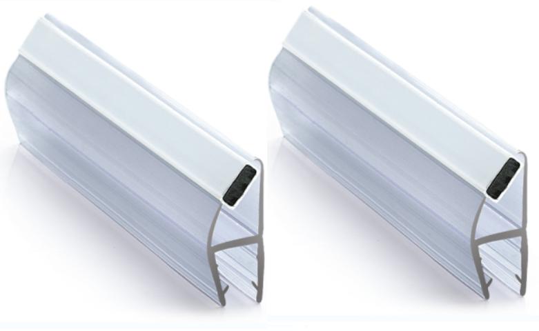 Magnetlist 90/180 gr. for 10 mm glass - 1 par