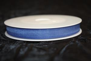 Band 10 mm 50 m/r organza blå
