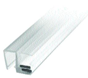 Magnetlist 90 gr. m/anslag for 5 mm glass - 1 par