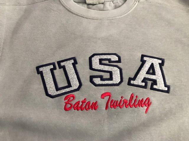 USA Sweater Gray Small