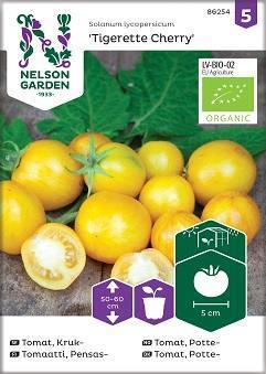 Tomat Kruk- 'Tigerette Cherry' Organic
