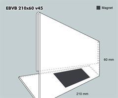 Etiketthållare EBVB 210-60F vinklad 45°