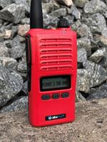 Radiopaket ALBE X5-140/155mhz.LCD.Röd.140mhz.2 Batt+lång ant