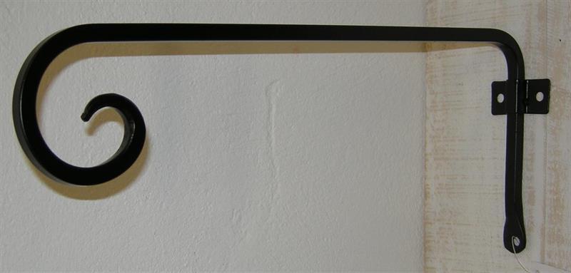 VÄGGKROK GARDIN 33cm  smide