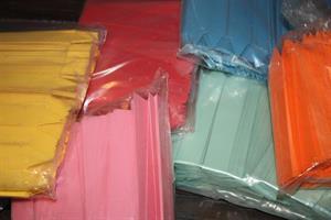 Etikett stick plast olika färger
