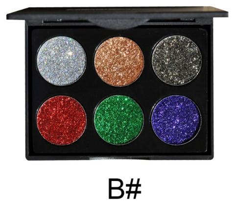 HANDAYAN Glittersminke 6 farger