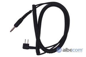 Kabel Peltor 2-stift FL6H-S-Rak kontakt