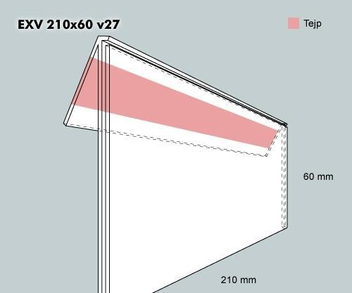 Etiketth. EXV 210-60F 27V tej