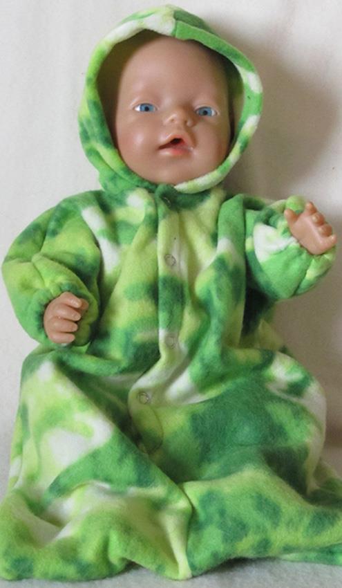 Sydd dress til BabyBorn i lysgrønn