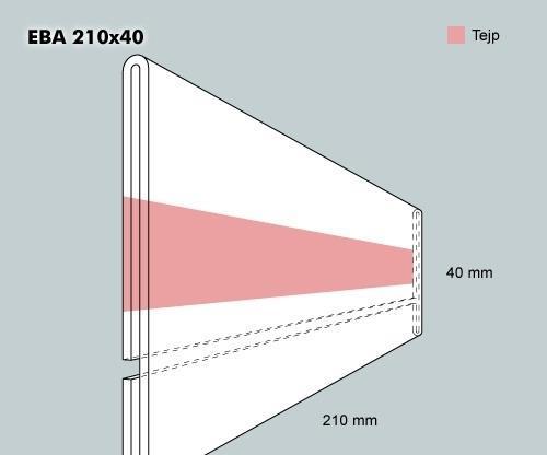 Etiketthållare EBA 210-40F
