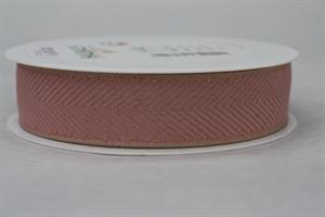Band 25 mm 20 m/r fiskben rosa/linne/guld