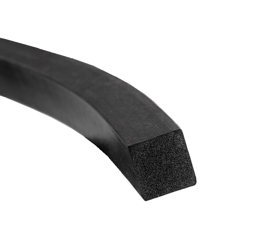 Firkantprofil Square Profile rubber cellular rubber epdm Hadeland Glass