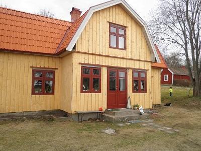 Ny fasad, tak, fönster o dörrar