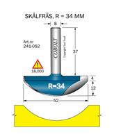 Skålfräs R=34 D=52 L=16 TL=53 S=8