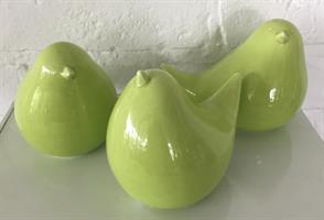FÅGEL grön porslin3ass