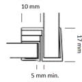 Magnetlist 90 gr. m/anslag for 8 mm glass - 1 par