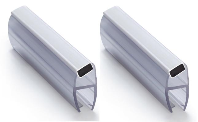 Magnetlist 135 gr. for 12 mm glass, hvit - 1 par