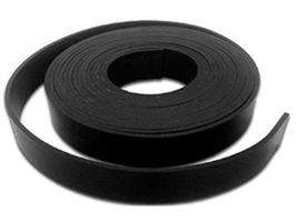 Gummistrips 200x3 mm sort u.lim CR/SBR - 10 meter